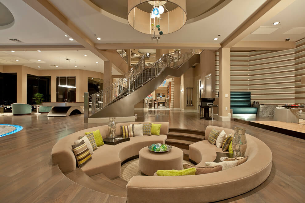 what is a sunken living room