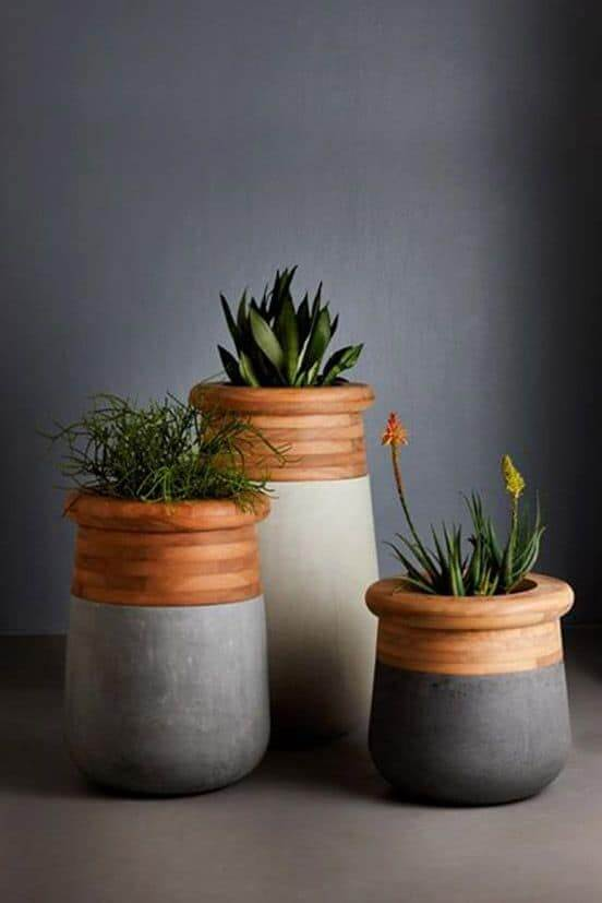 Diy concrate planter ideas