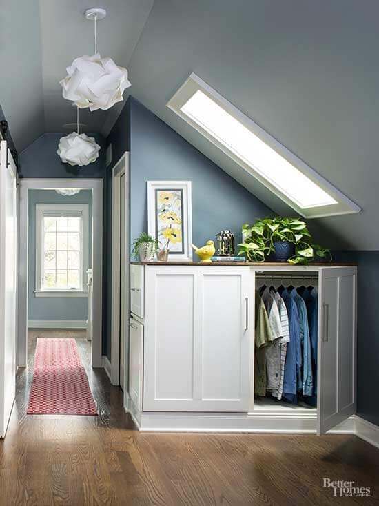 attic closet storage ideas