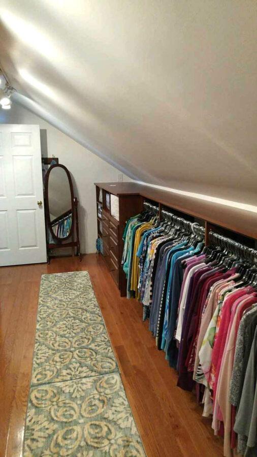 attic room closet ideas