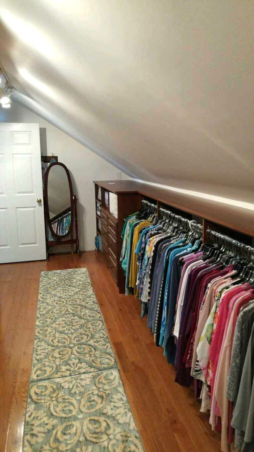 attic room closet ideas