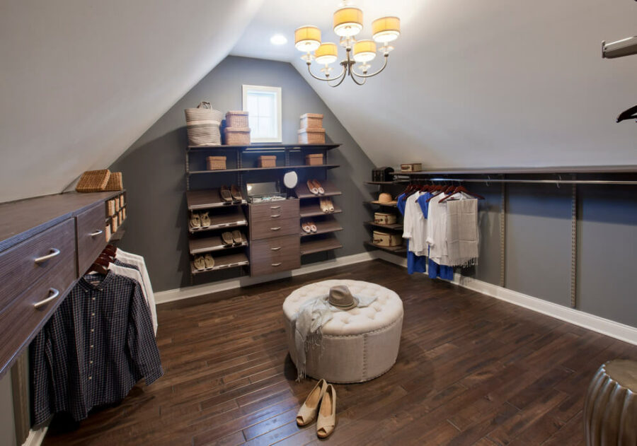 attic walk in closet
