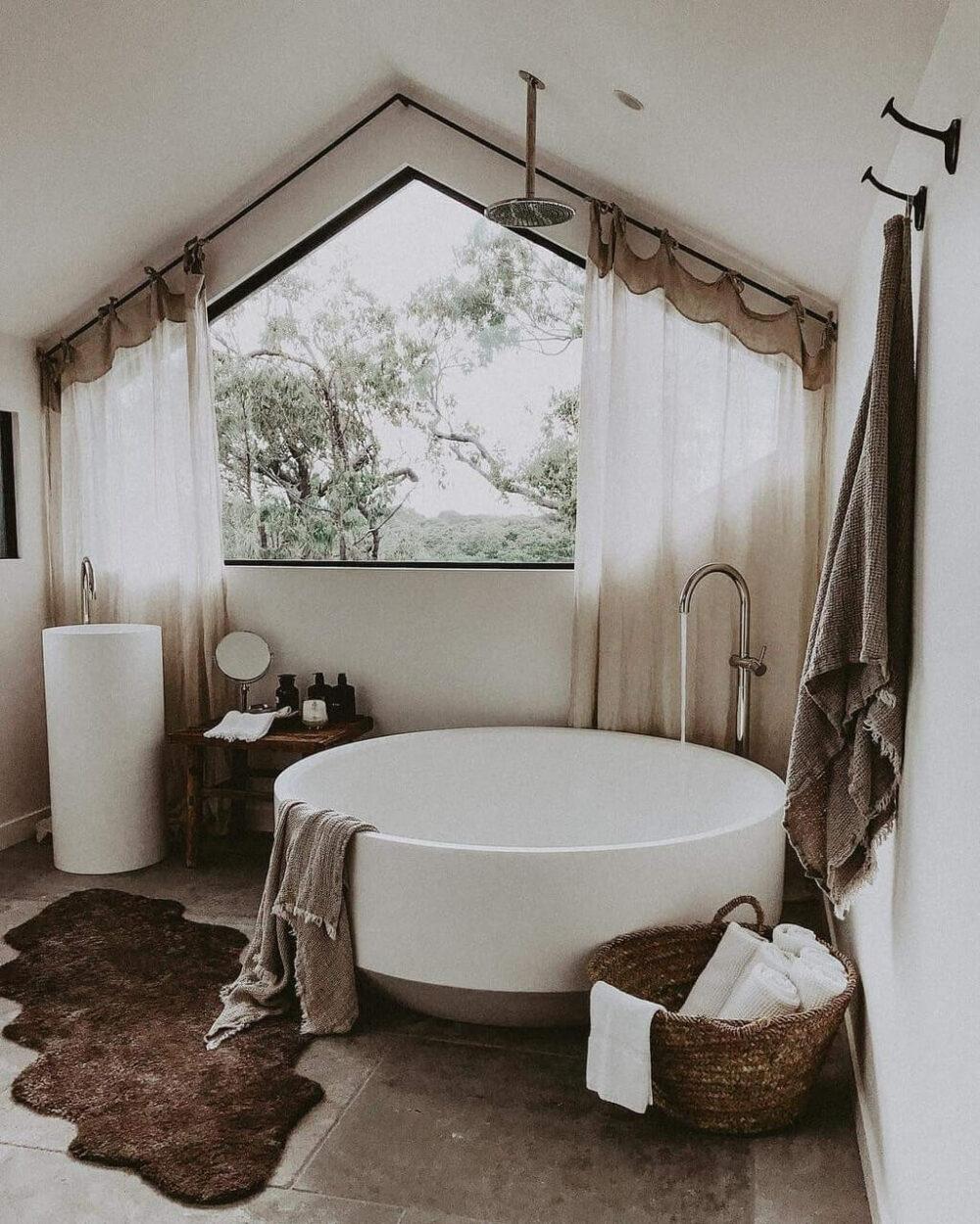 bathroom window curtains ideas