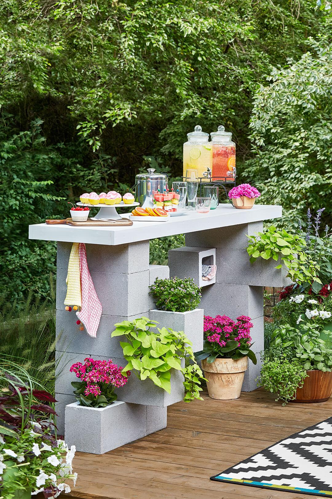 build concrete planter box