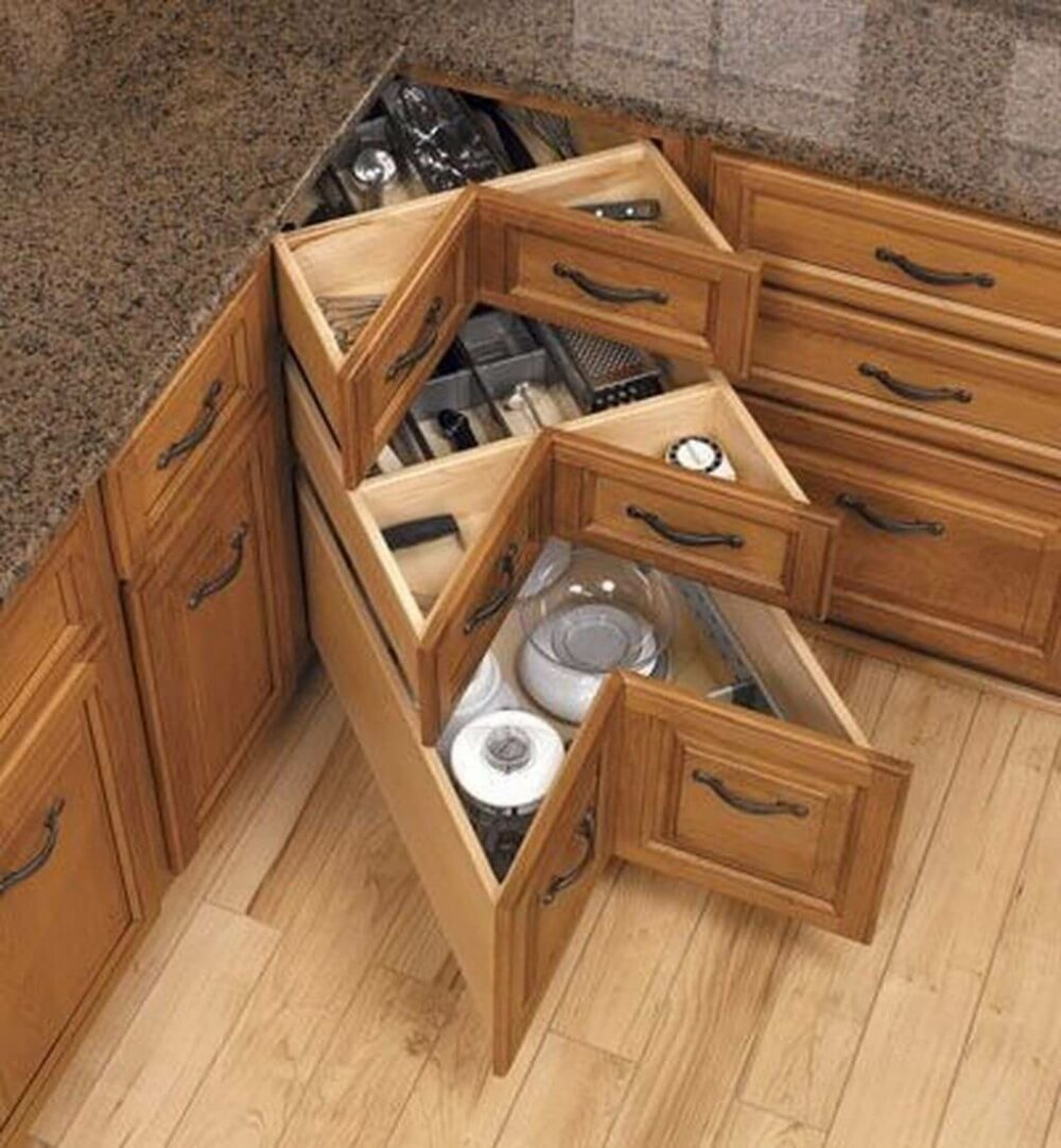 corner kitchen cabinet pull out drawers