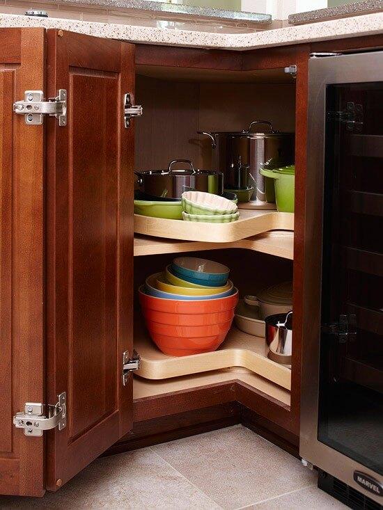 corner kitchen cabinet with lazy susan