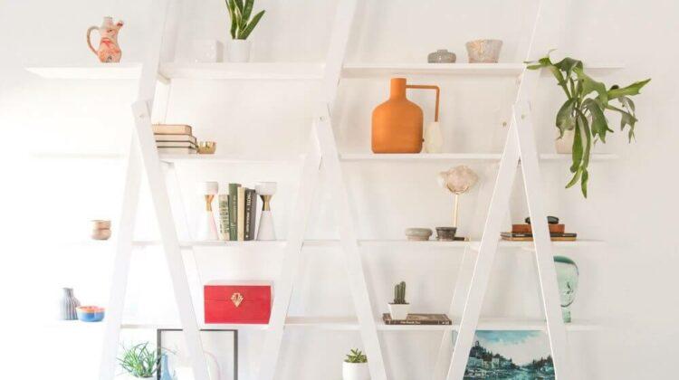 diy a frame ladder shelf