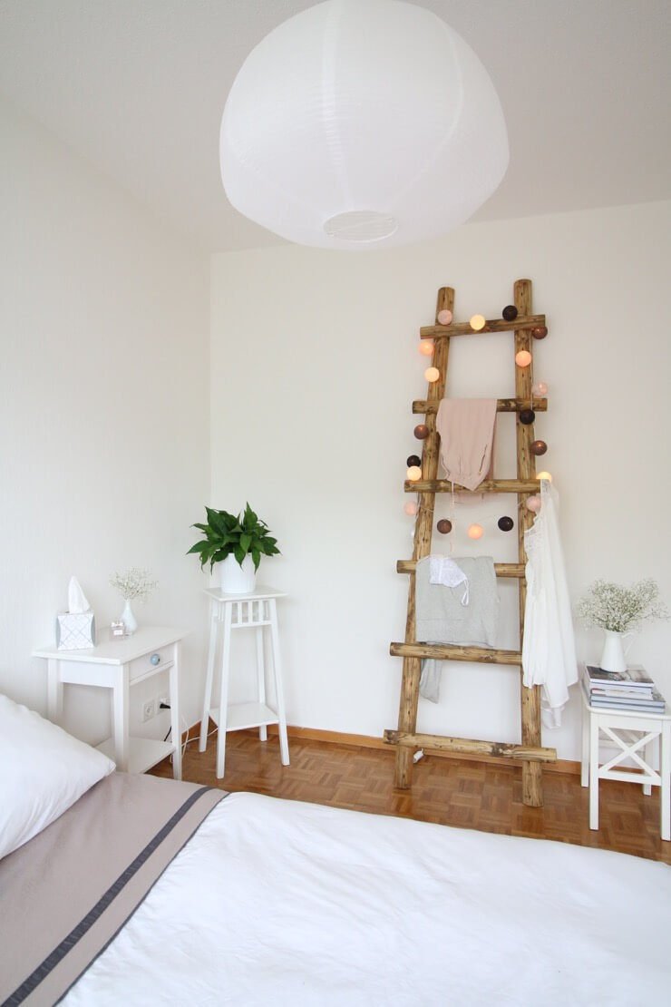 diy blanket ladder pinterest