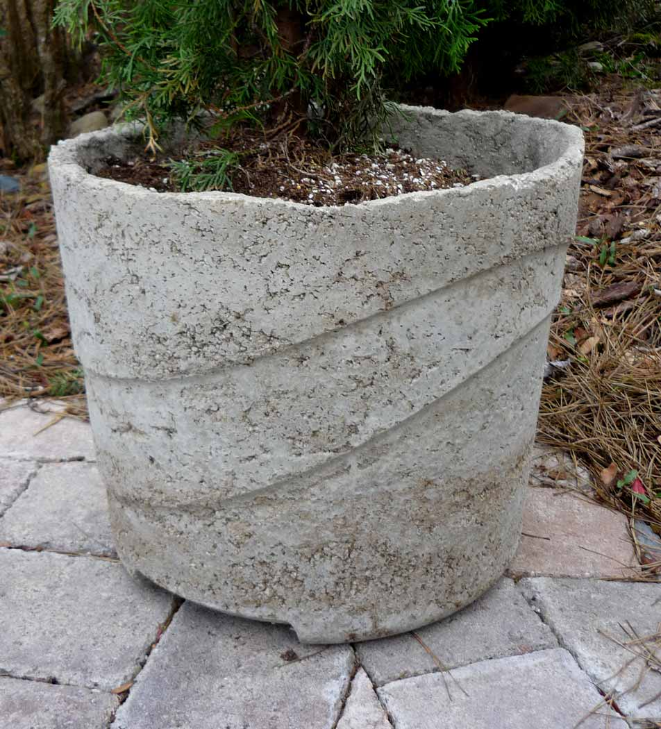 diy concrete planter bowl