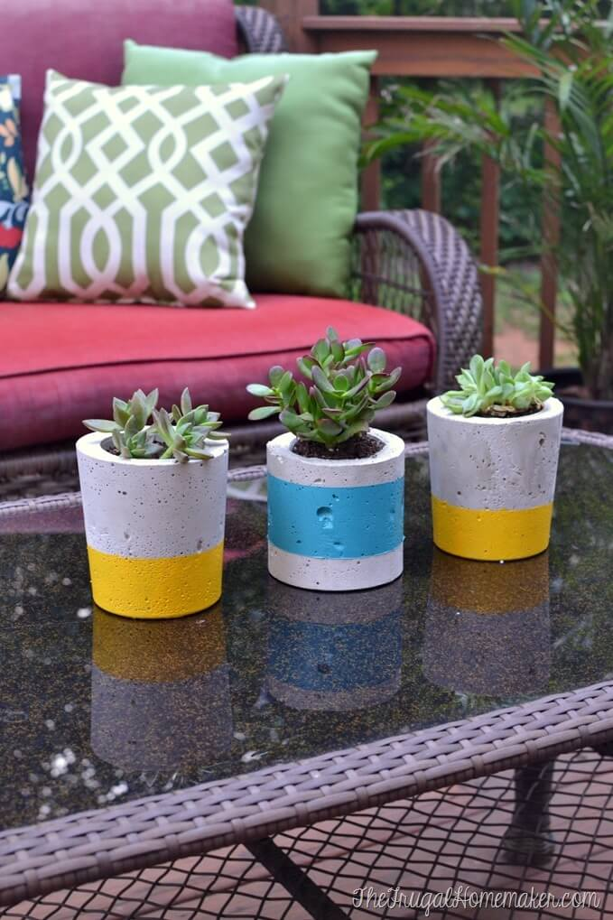 diy concrete planter molds