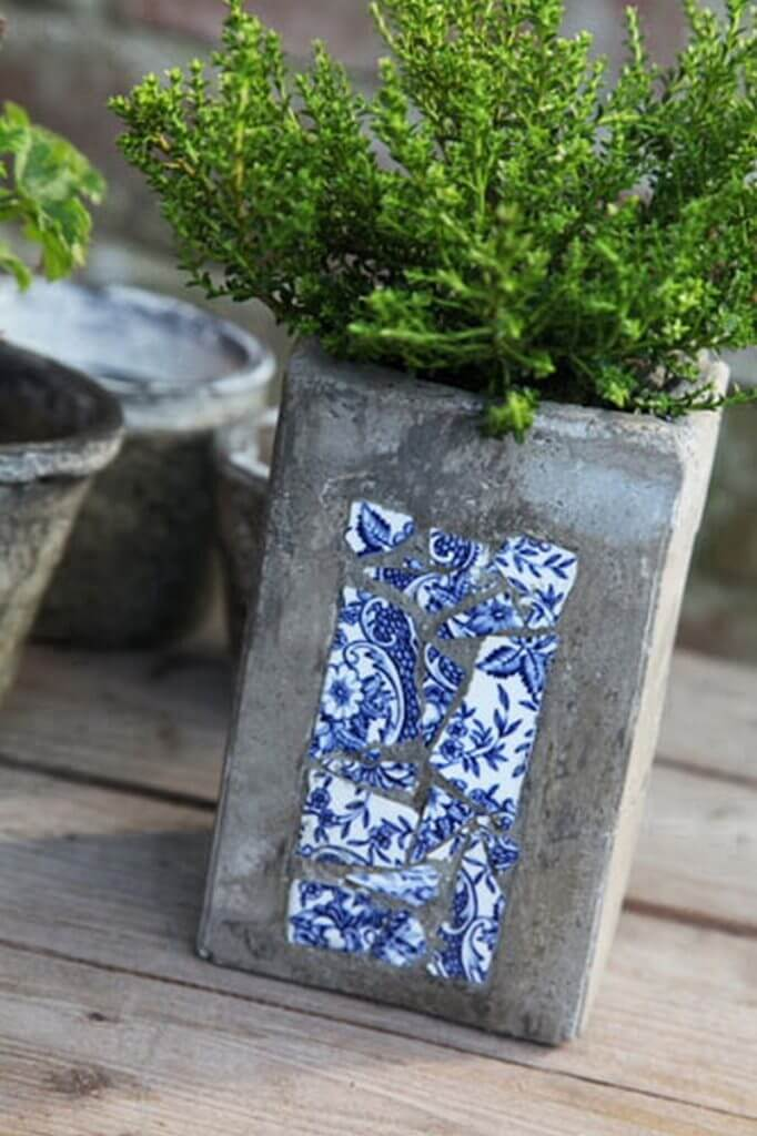 diy concrete planter pots