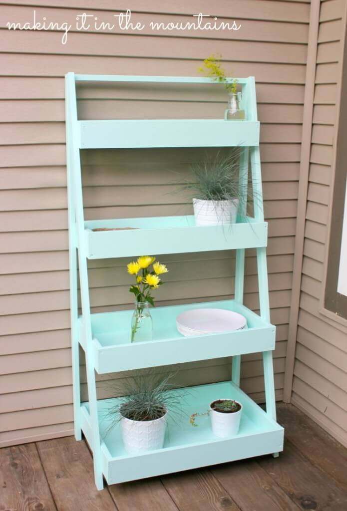 diy decorative ladder shelf