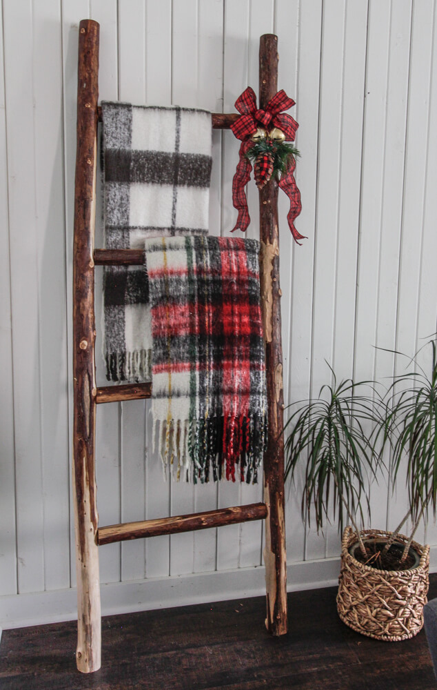 diy dollar tree blanket ladder