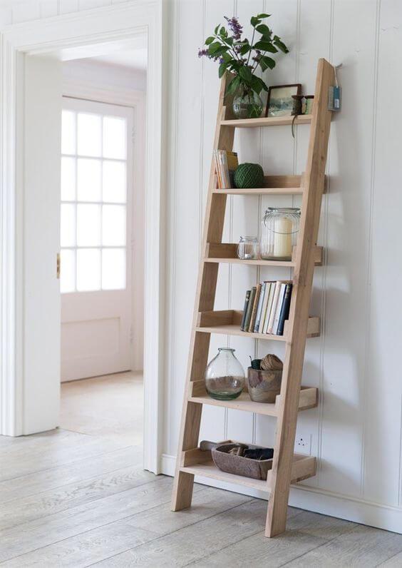 diy ladder shelf for plants
