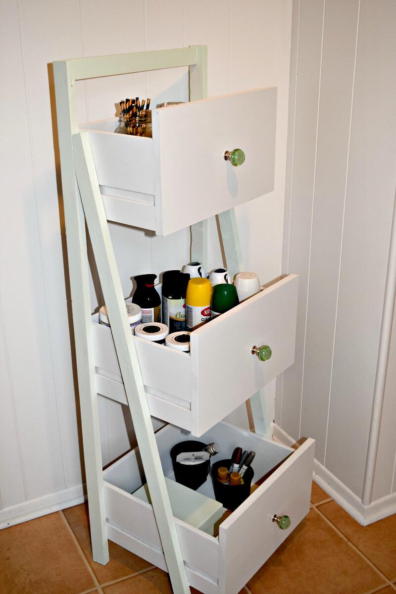 diy ladder shelf ideas