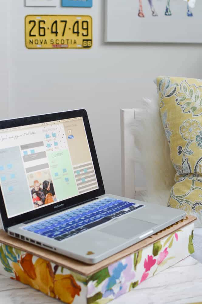 diy lap desk pillow