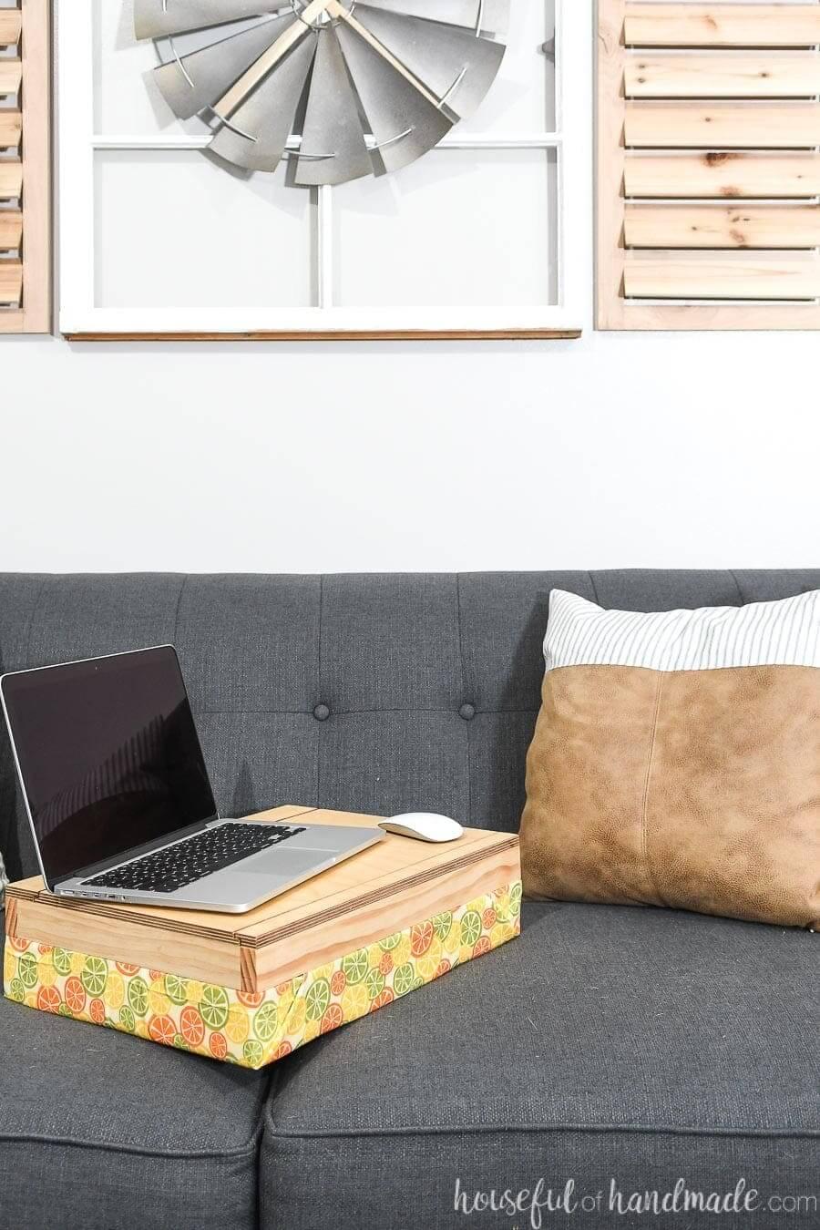 diy lap desk with storage