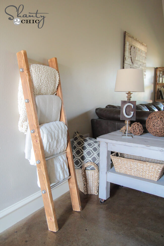 diy plans for blanket ladder