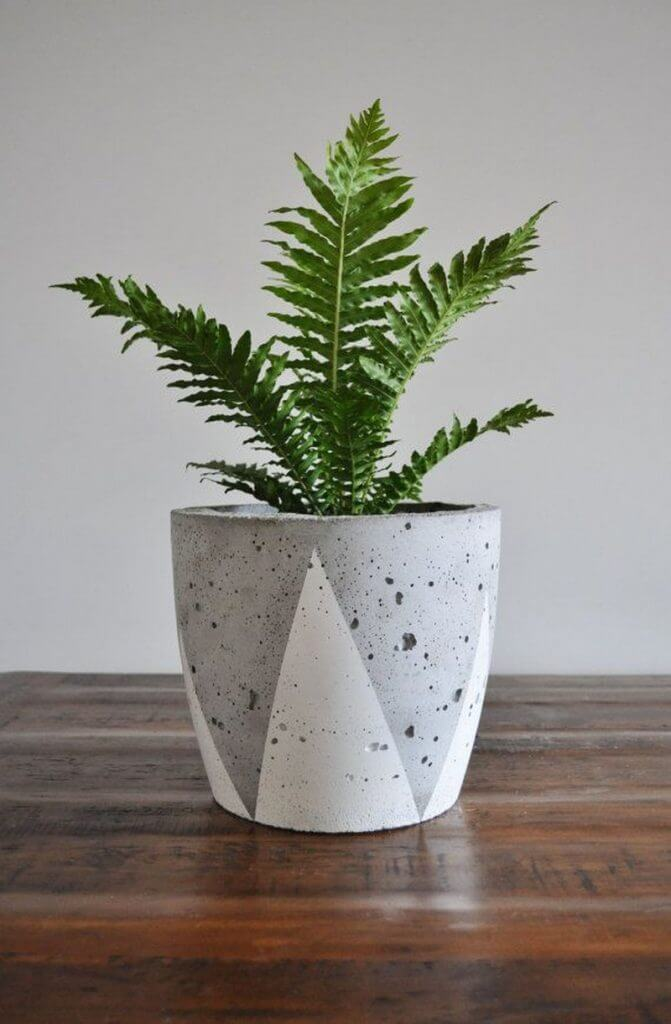 how build concrete planter
