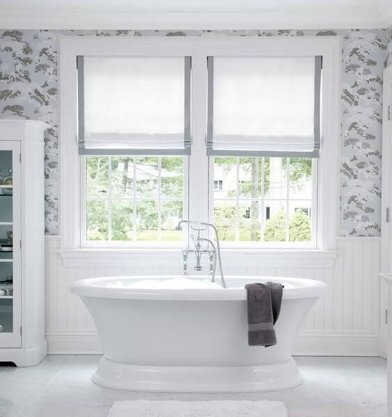 ideas for bathroom window coverings
