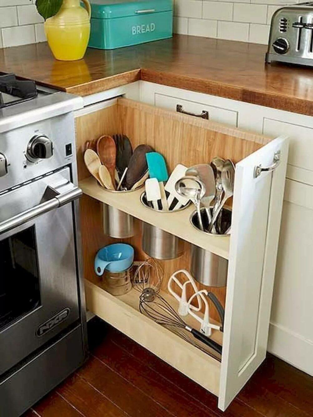 organizer for corner kitchen cabinet