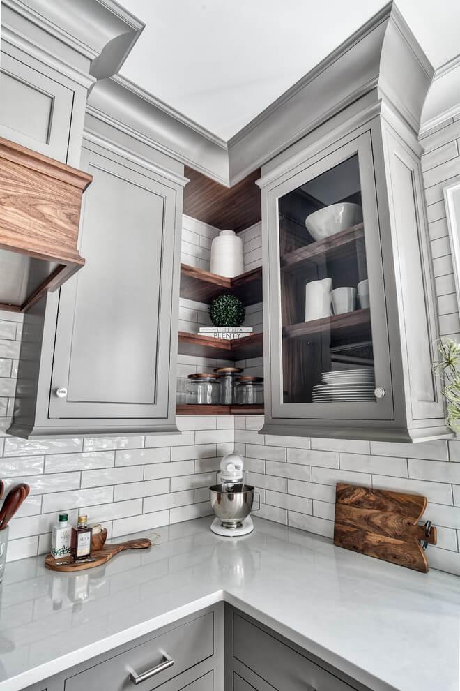 shelves for corner kitchen cabinet