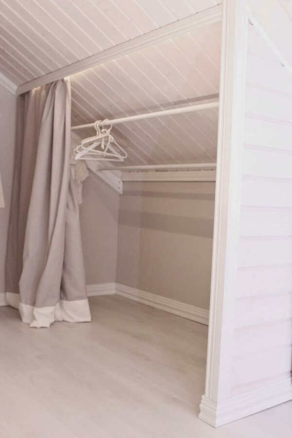 slanted attic closet ideas