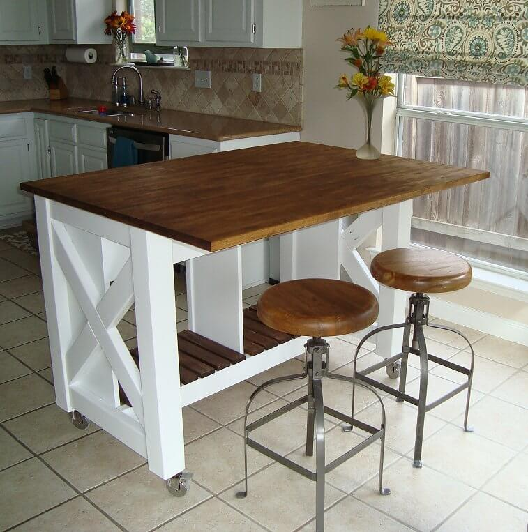 small kitchen table set with bench