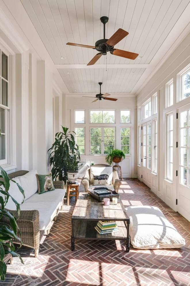 sunroom window treatment ideas