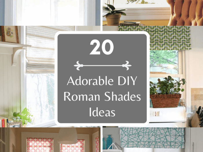 Adorable DIY Roman Shades Ideas