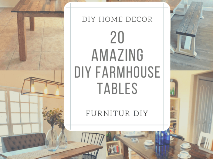 Amazing DIY Farmhouse Tables