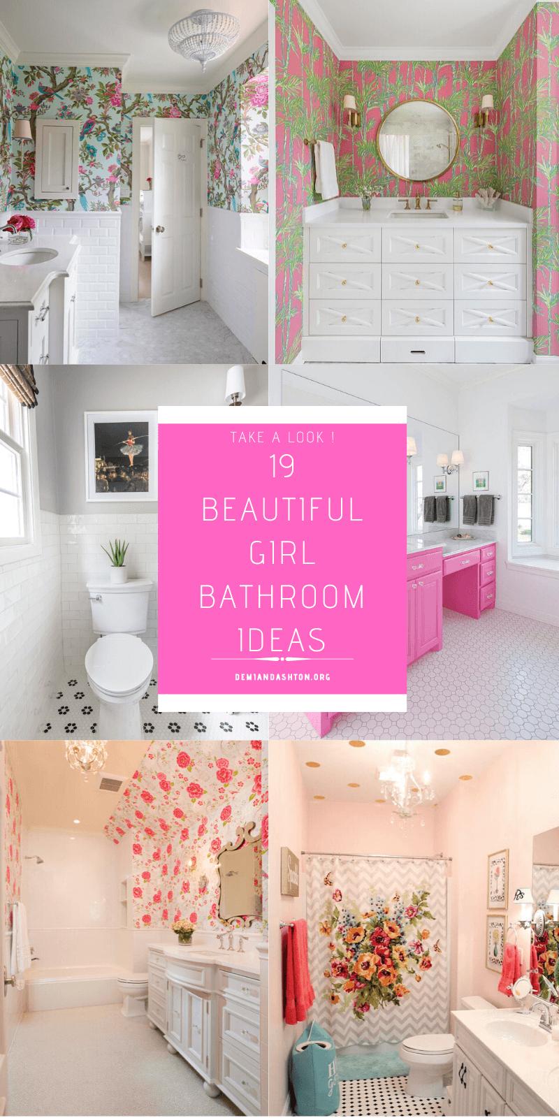 19 Beautiful Girl Bathroom Ideas For, Bathroom Ideas For Girls