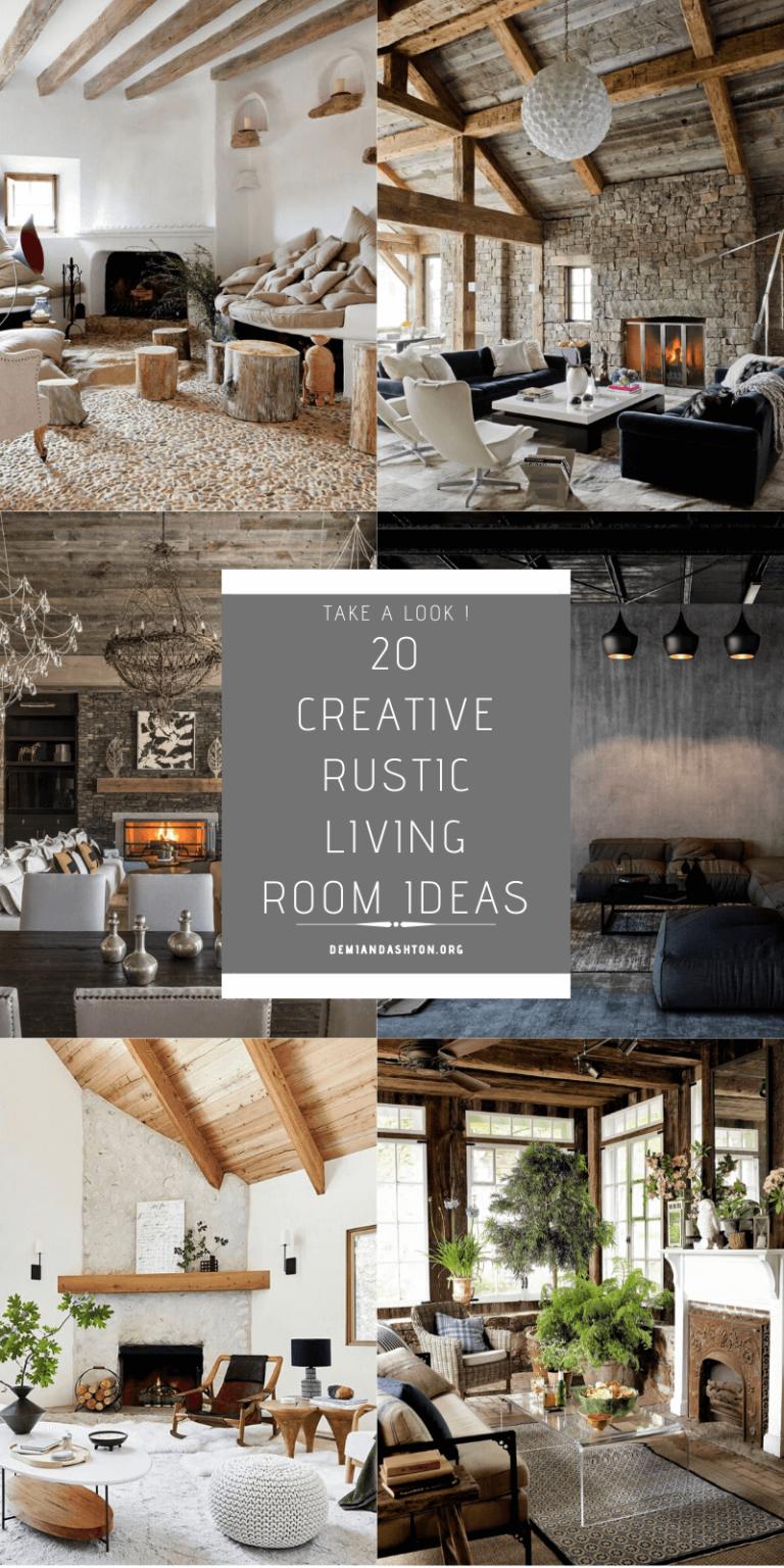 Creative Rustic Living Room Ideas