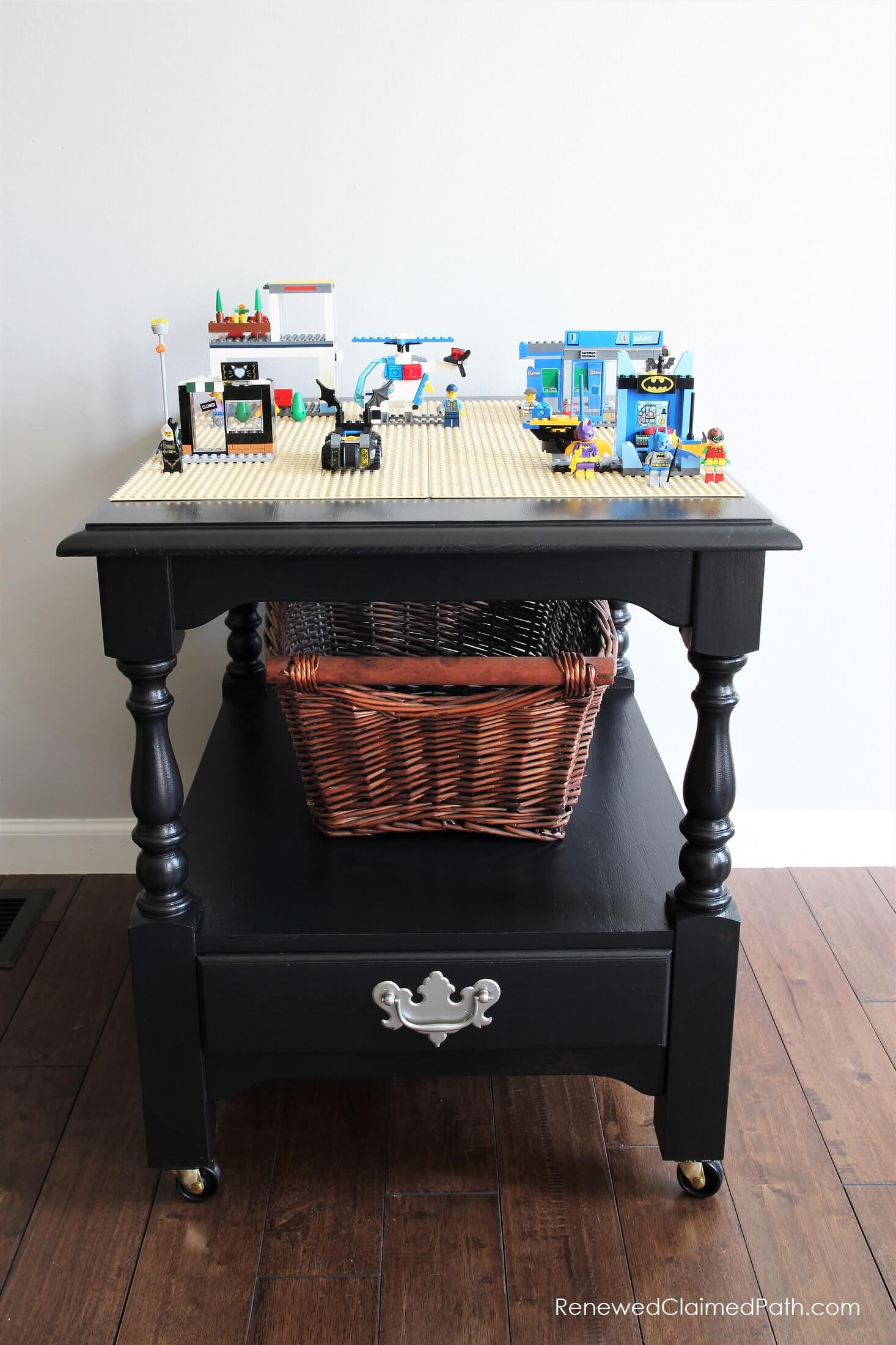 DIY LEGO Table From an End Table