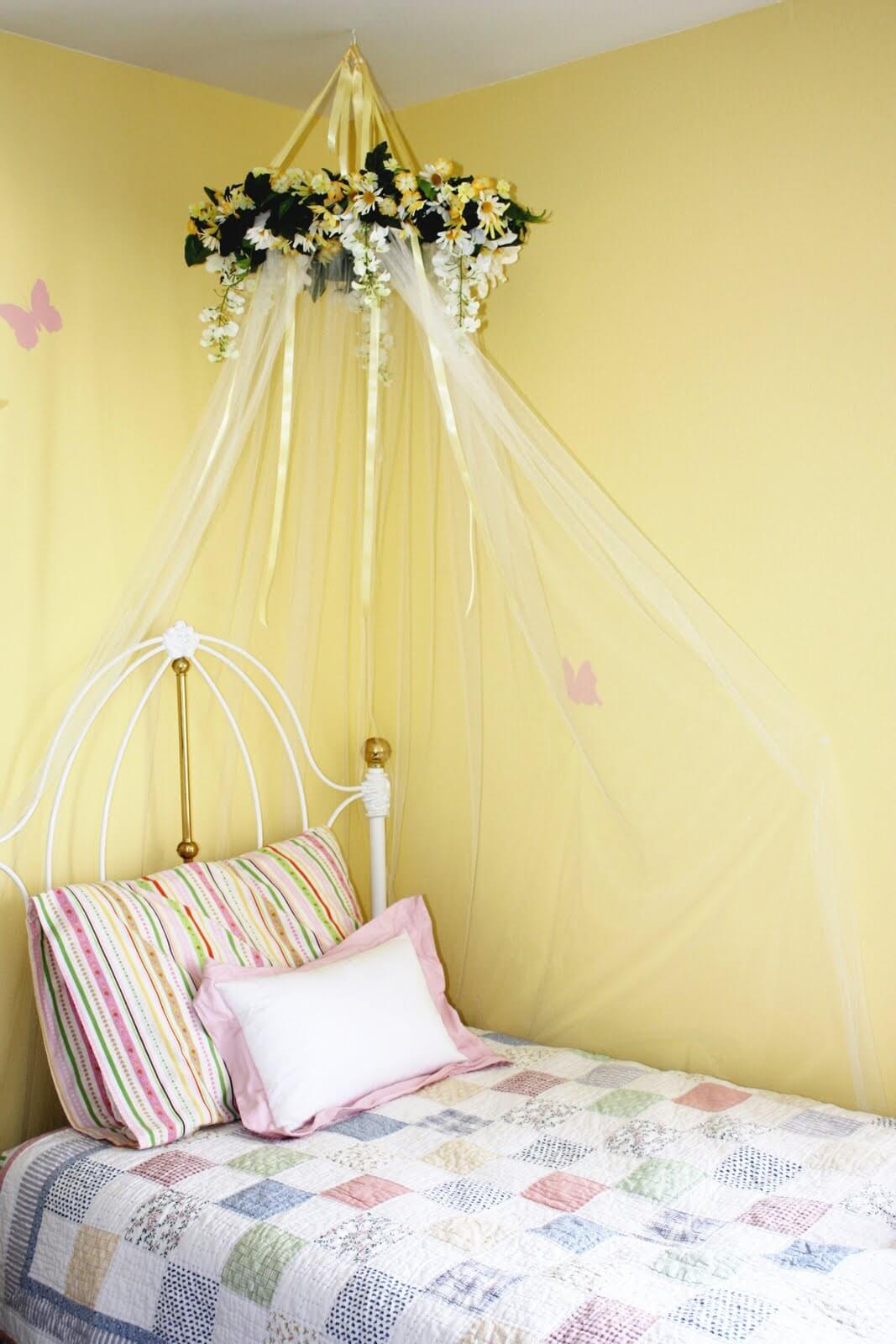 DIY bed canopy for little girls