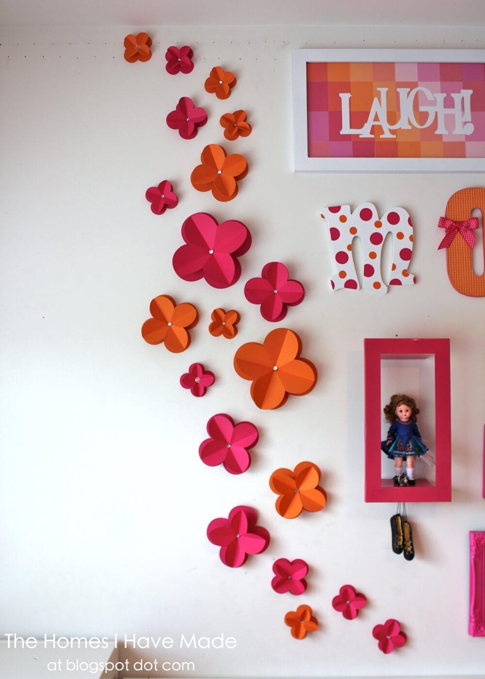 Diy 3D Paper Wall Flowers