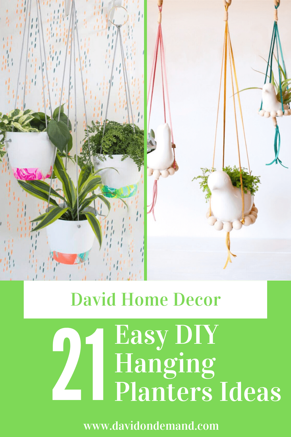Easy DIY Hanging Planters Ideas
