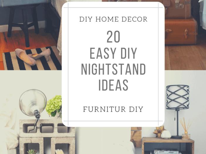 Easy DIY Nightstand Ideas