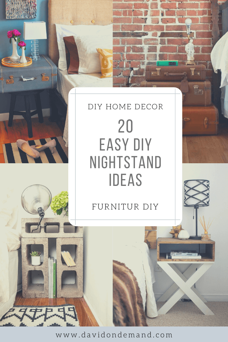 Easy DIY Nightstand Ideas