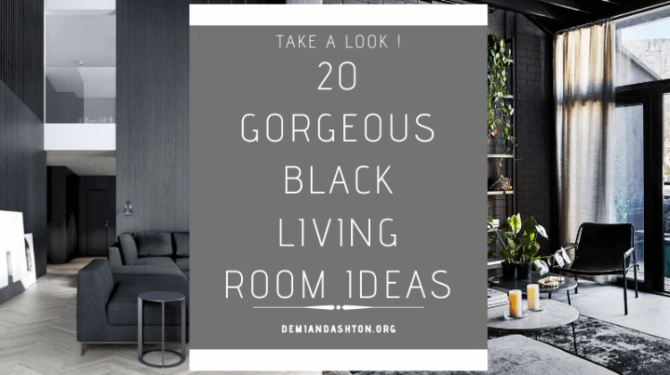 Gorgeous Black Living Room Ideas