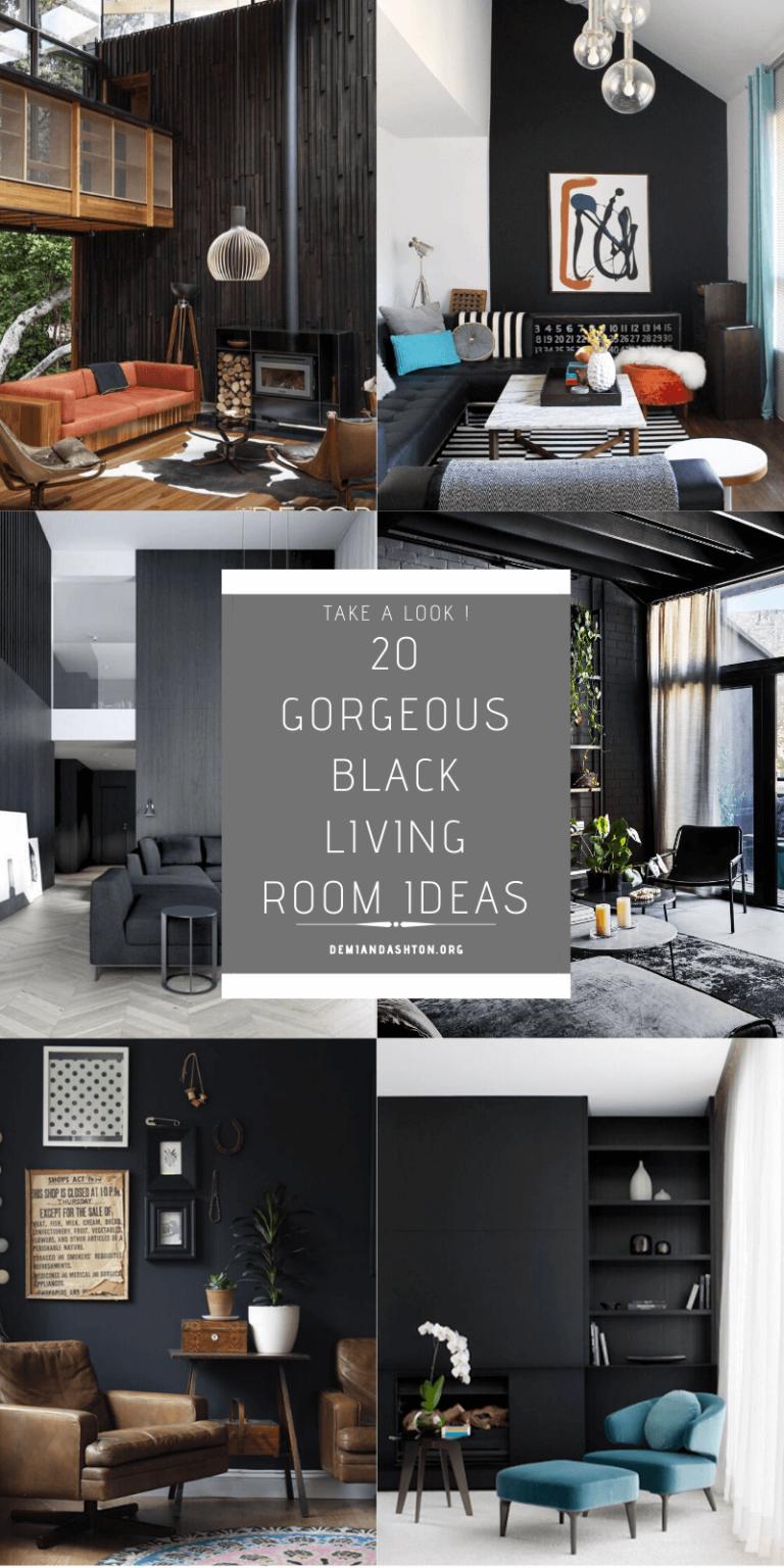 Gorgeous Black Living Room Ideas