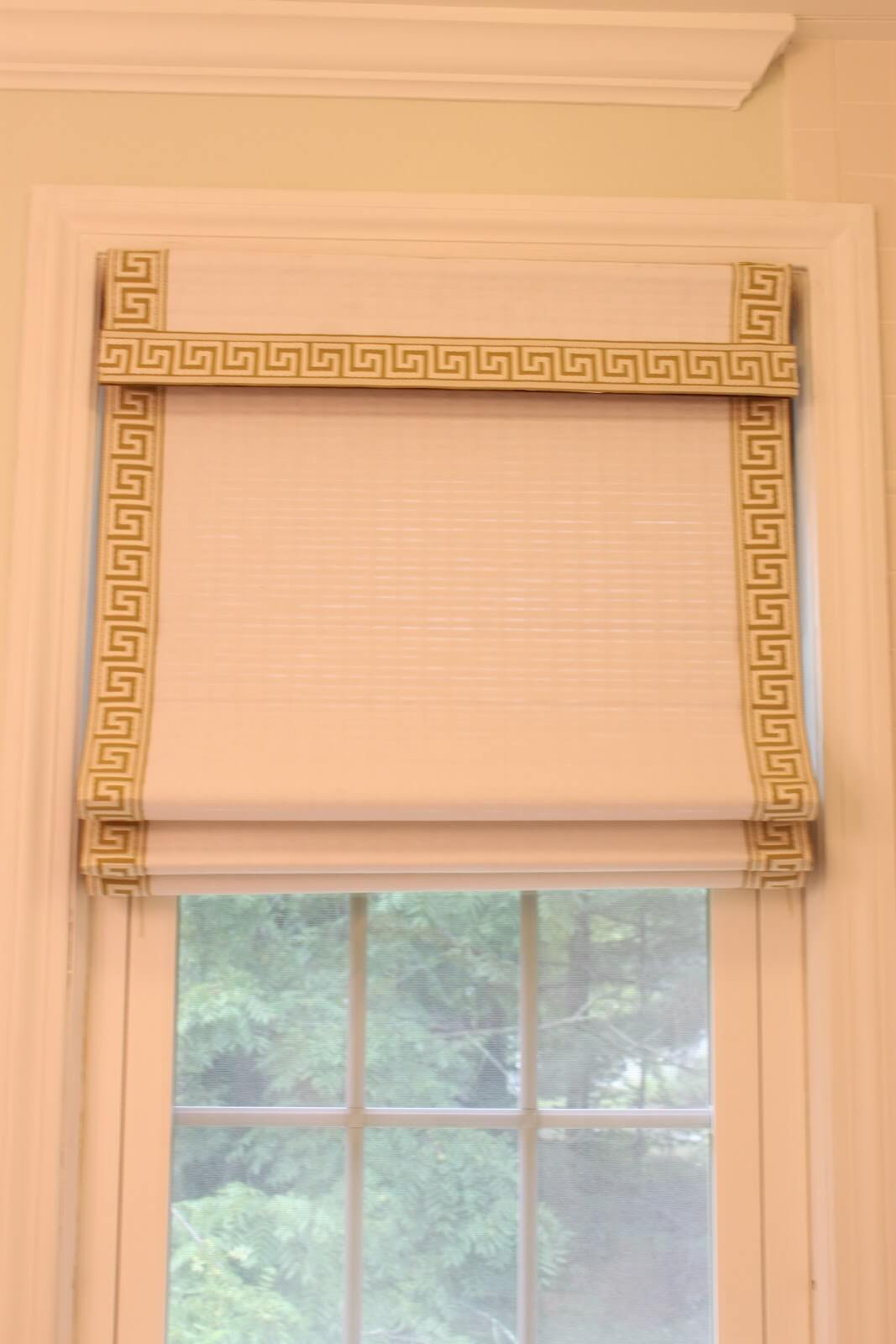 Greek Key Roman Shades