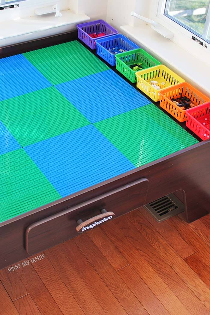 Lego Table with Color Storage