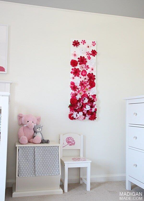 Silk Flower Diy Wall Art