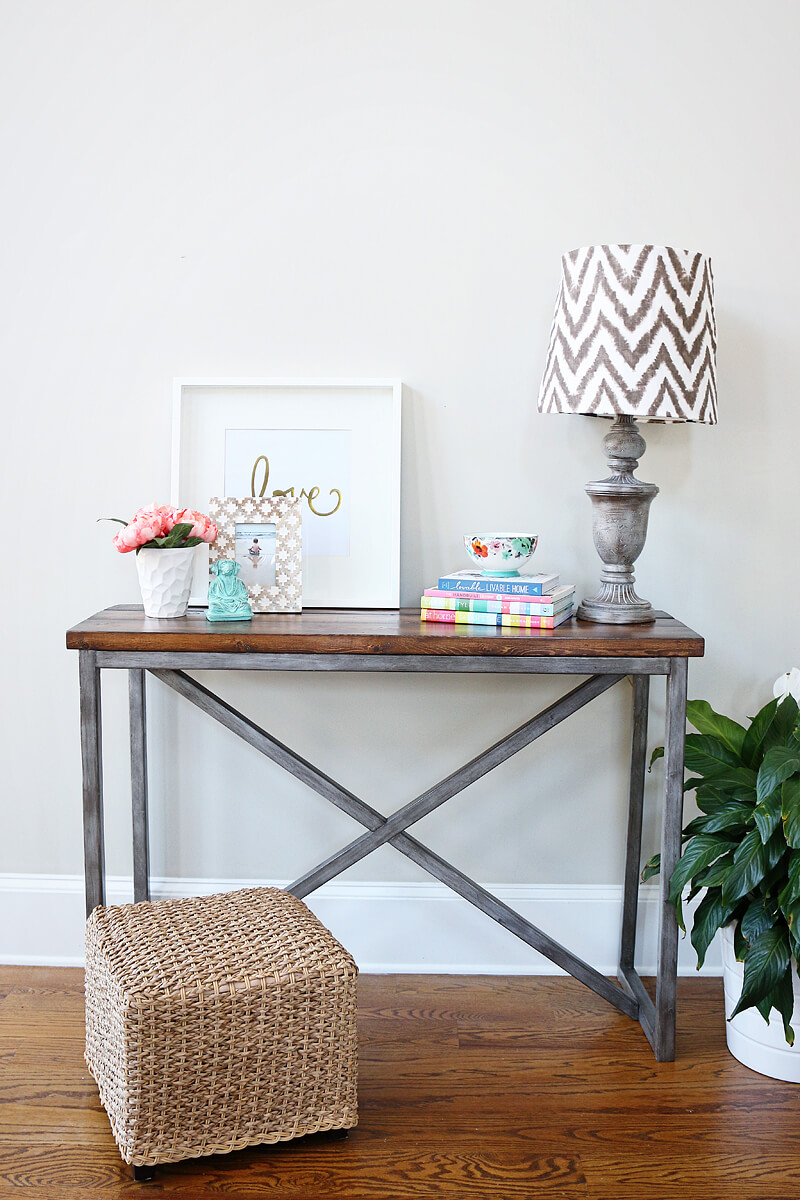X Based Console Table