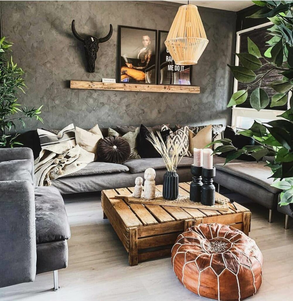 black gray living room ideas