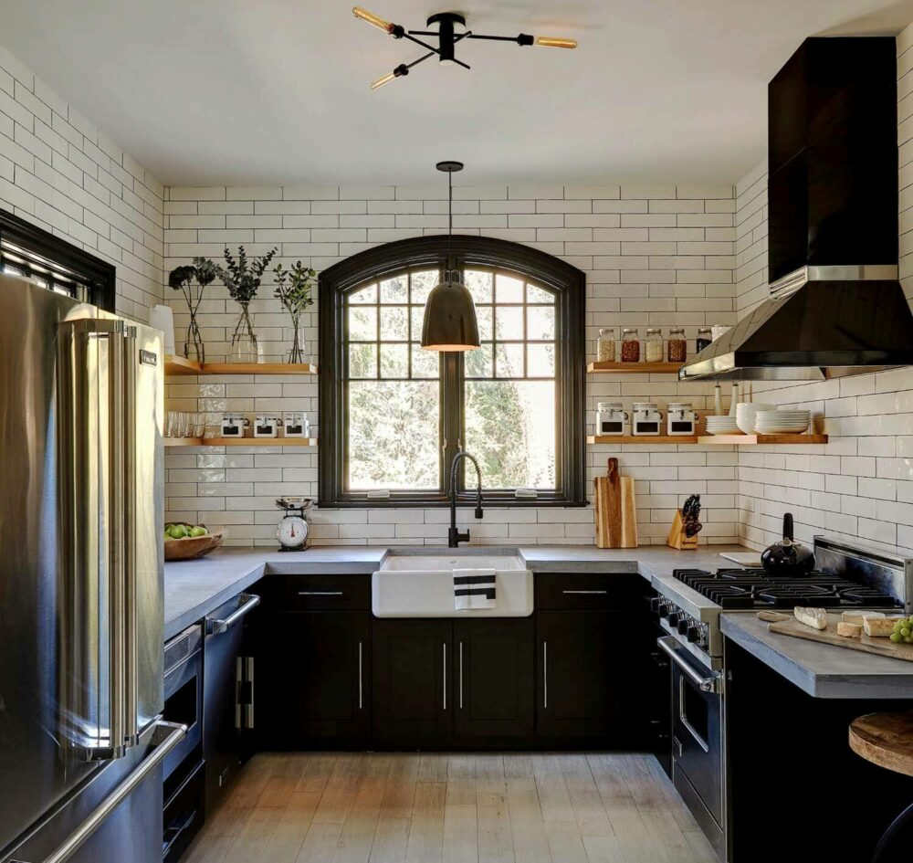 black kitchen cabinet designs