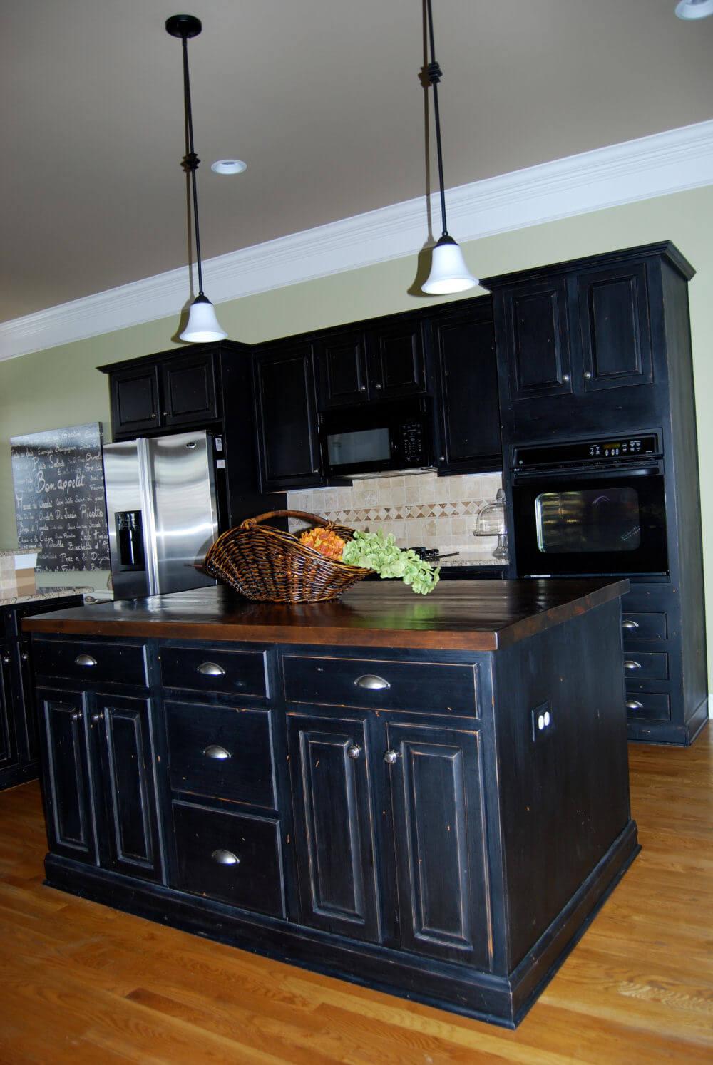 black kitchen cabinet images