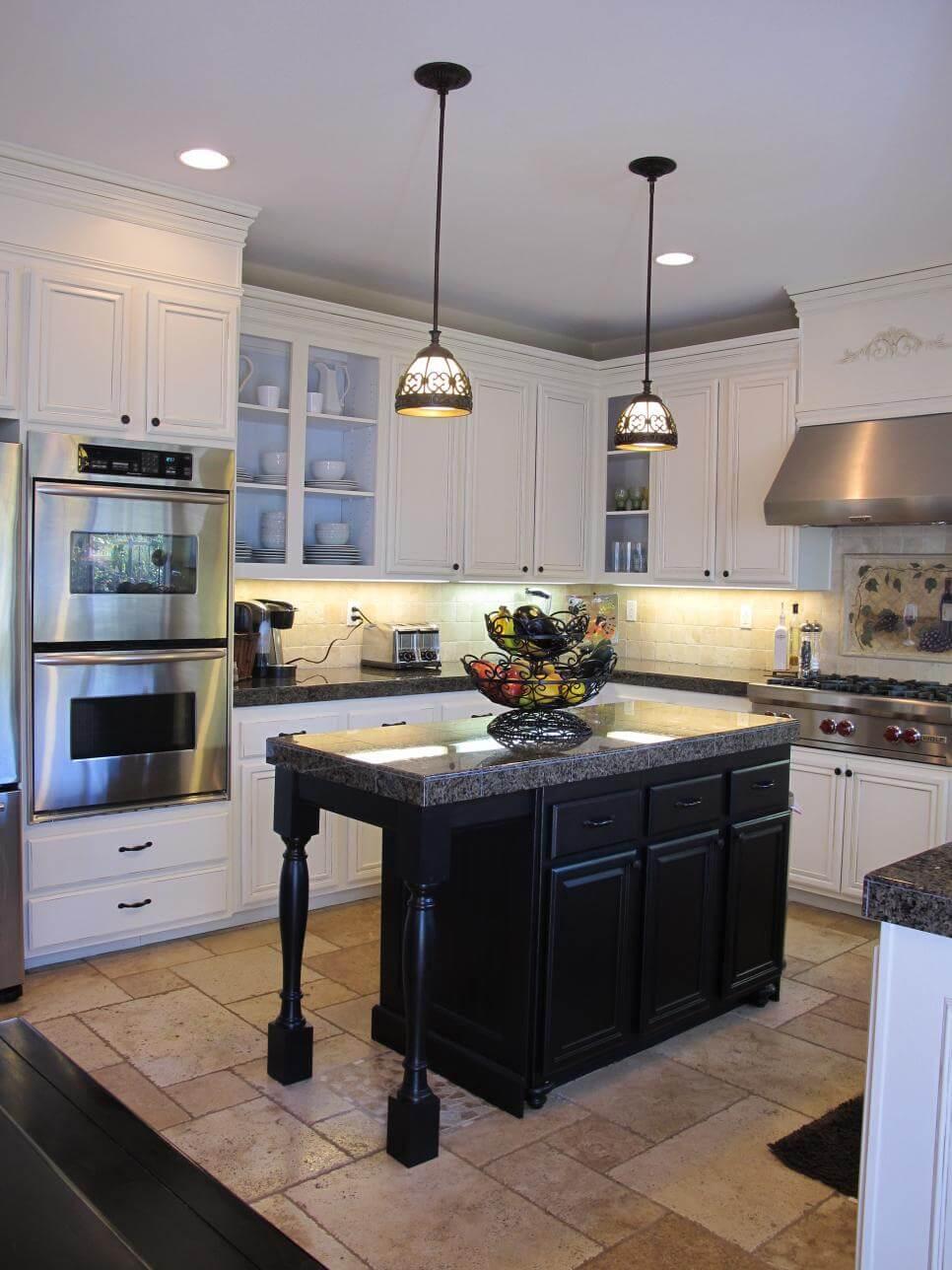 black kitchen cabinet paint