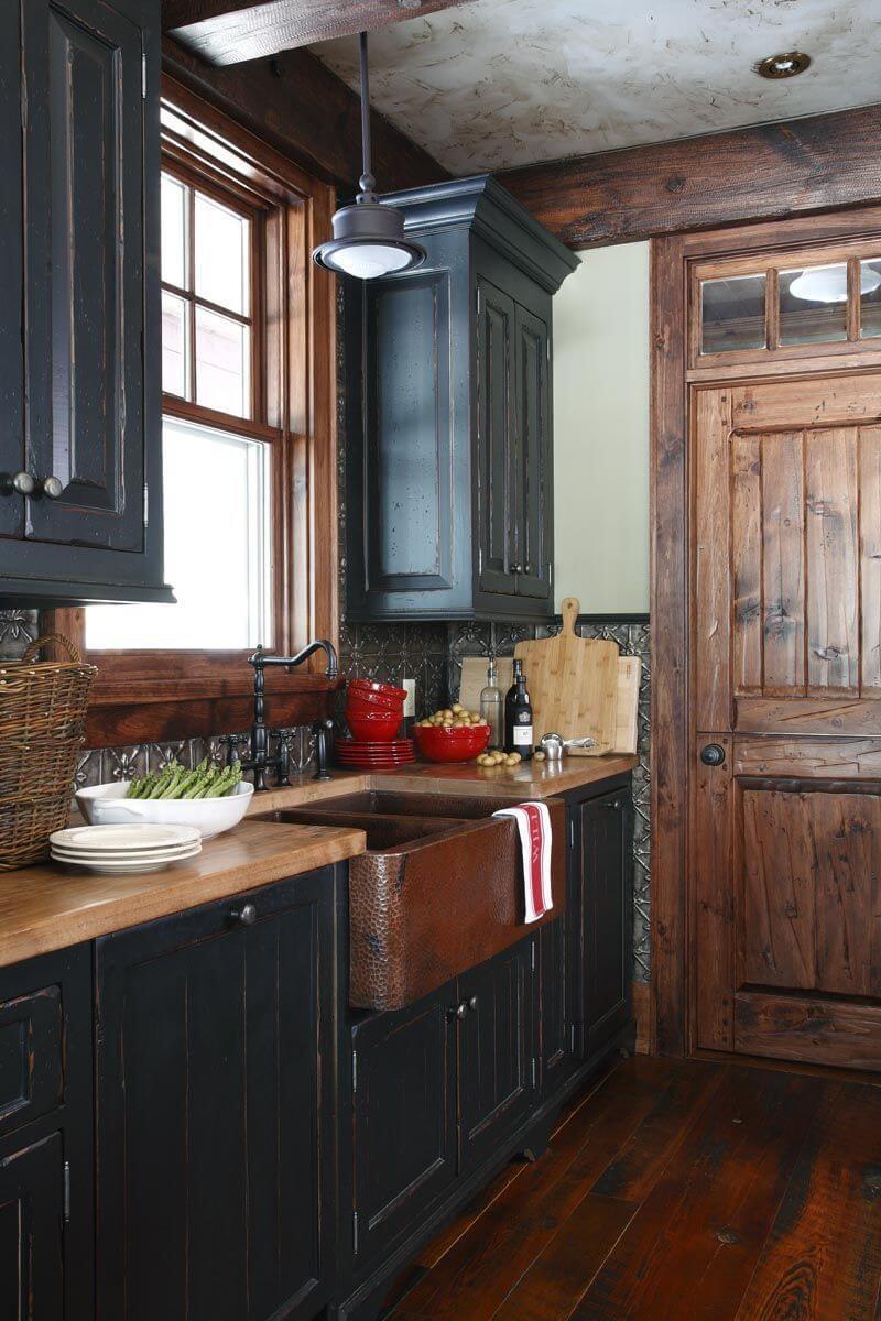 black kitchen cabinet pictures